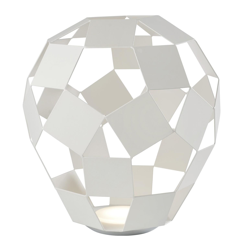 home24 Sompex LED-Tischleuchte Belly Modern Weiß Eisen Dimmbar 1-flammig 10W mit Touch-Schalter Ø 30 cm