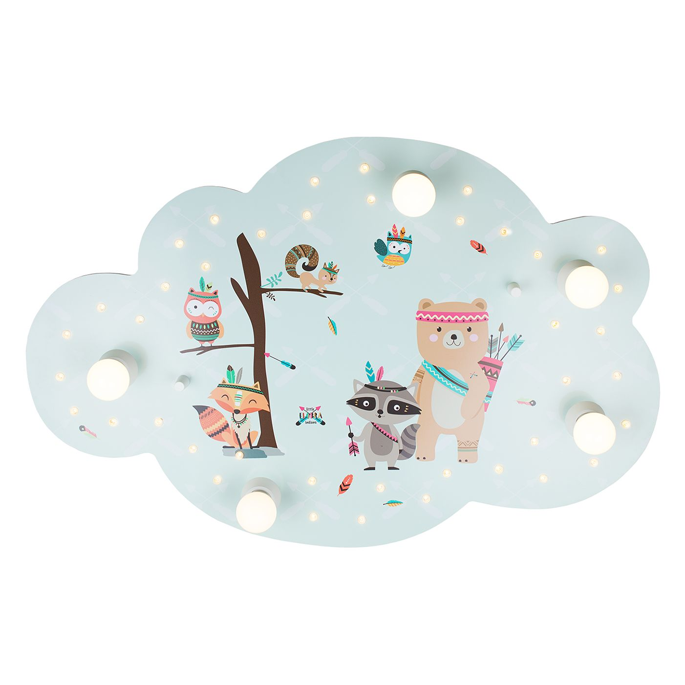 home24 LED-Deckenleuchte Wolke Little Indians