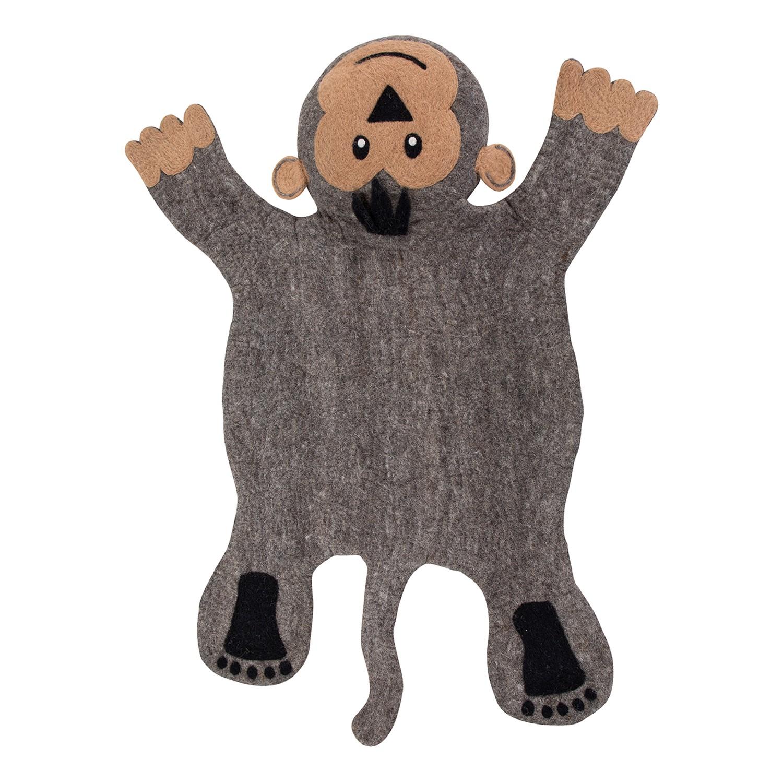 home24 Kinderteppich Titus der Affe | Kinderzimmer > Textilien für Kinder > Kinderteppiche | Grau | Textil | Luxor living