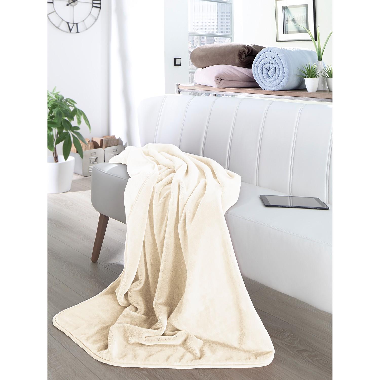 home24 Plaid Pure Soft   Heimtextilien > Decken und Kissen > Tagesdecken und Bettüberwürfe   Beige   twentyfour