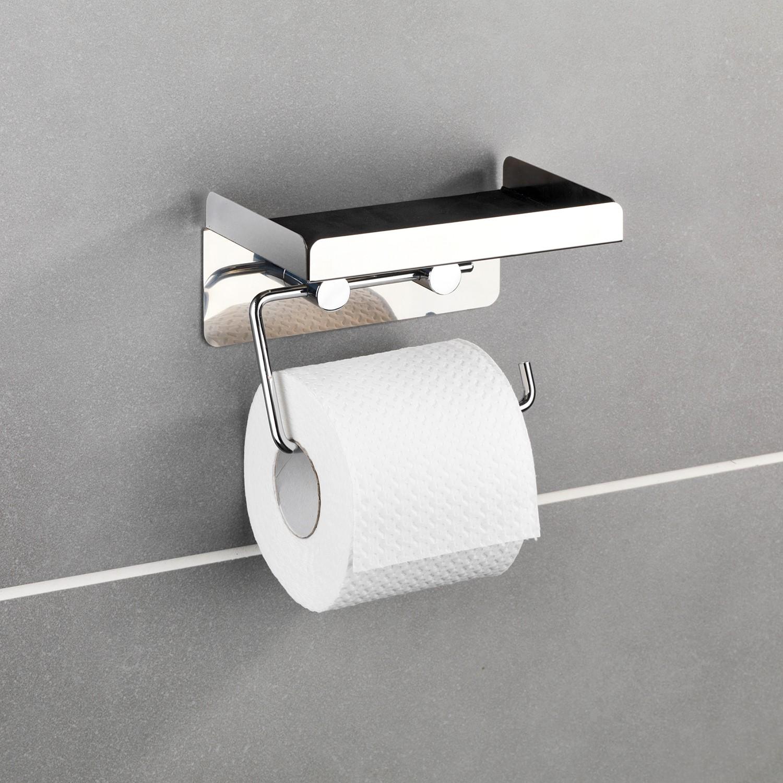 home24 Toilettenpapierhalter Moonta | Bad > Bad-Accessoires > Toilettenpapierhalter | Silber | Wenko