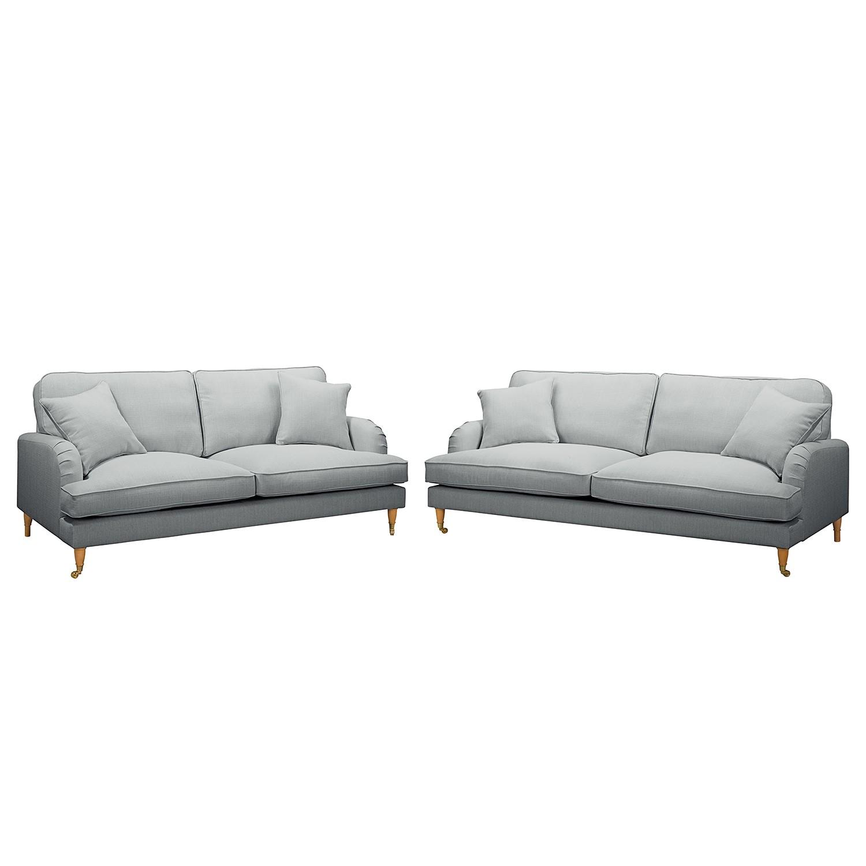 home24 Polstergarnitur Bethania II (3-2) | Wohnzimmer > Sofas & Couches > Garnituren | Silber | Maison Belfort