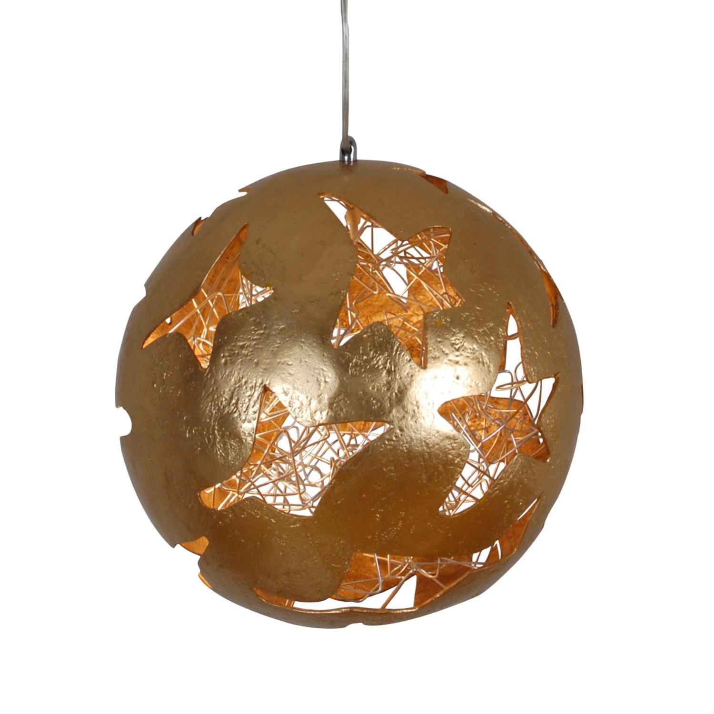 home24 Näve Pendelleuchte Cassowary Acrylglas Gold Dimmbar 50x120x50 cm (BxHxT) 1-flammig E27