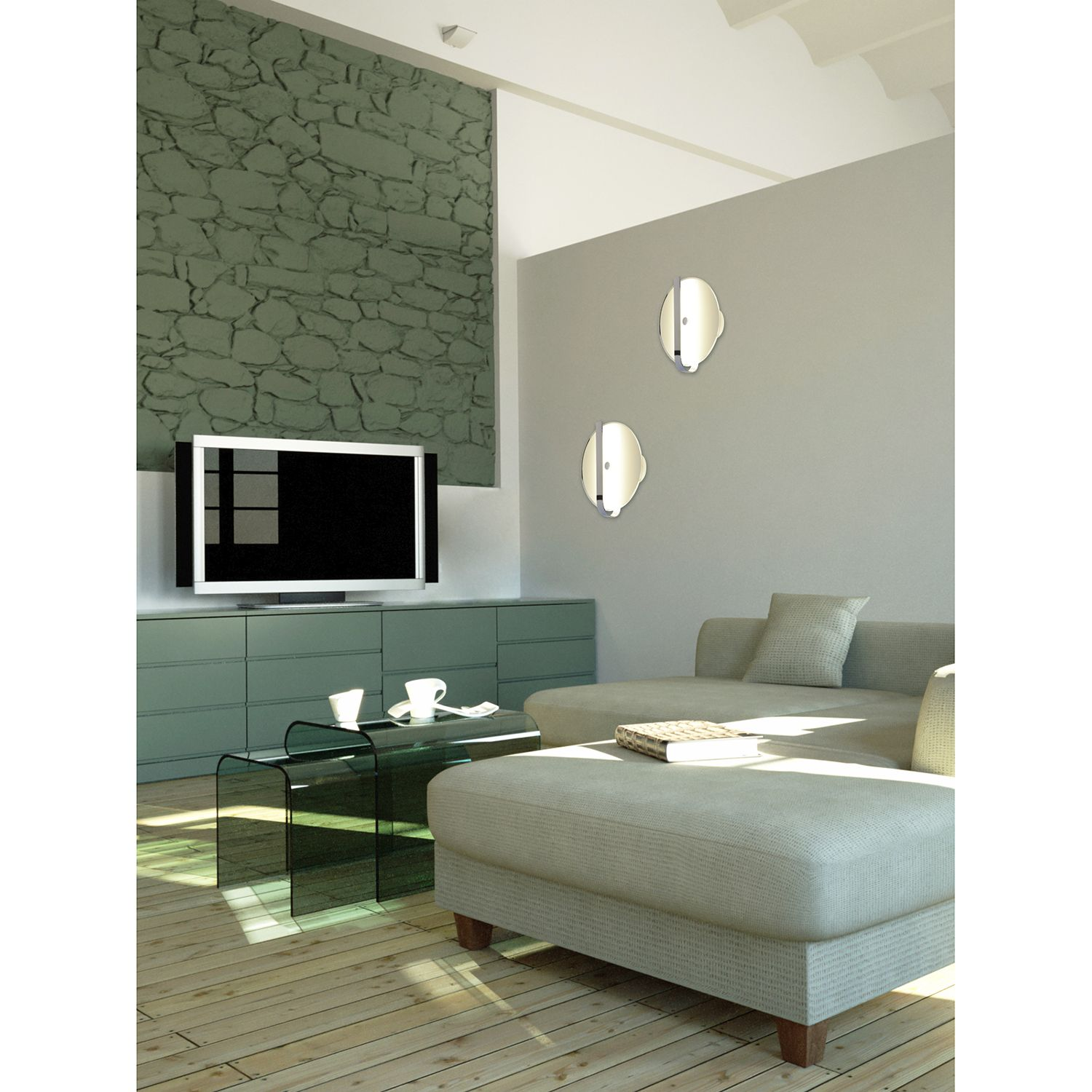 home24 LED-Wandleuchte Lucca