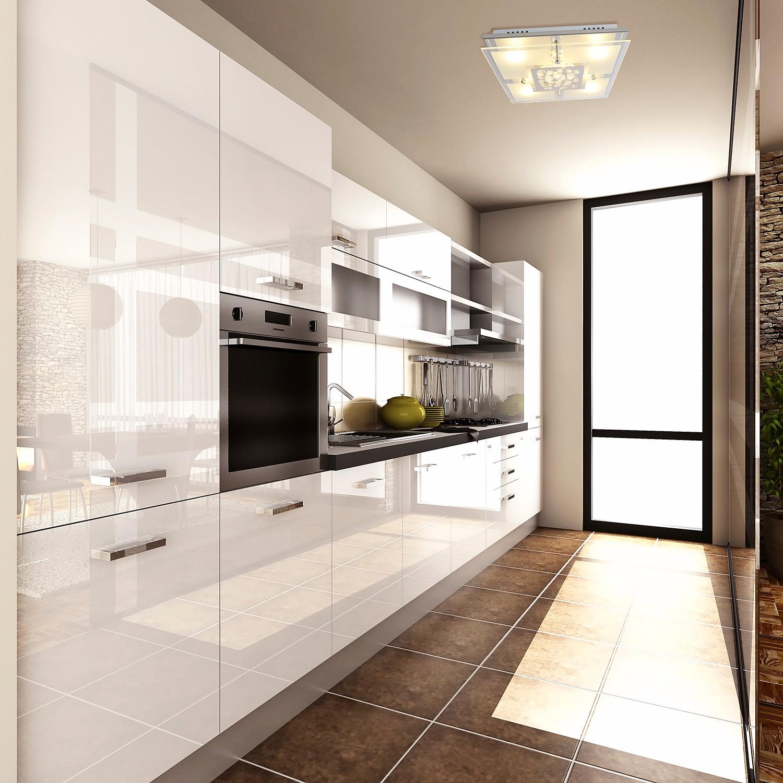 home24 LED-Deckenleuchte Chur II