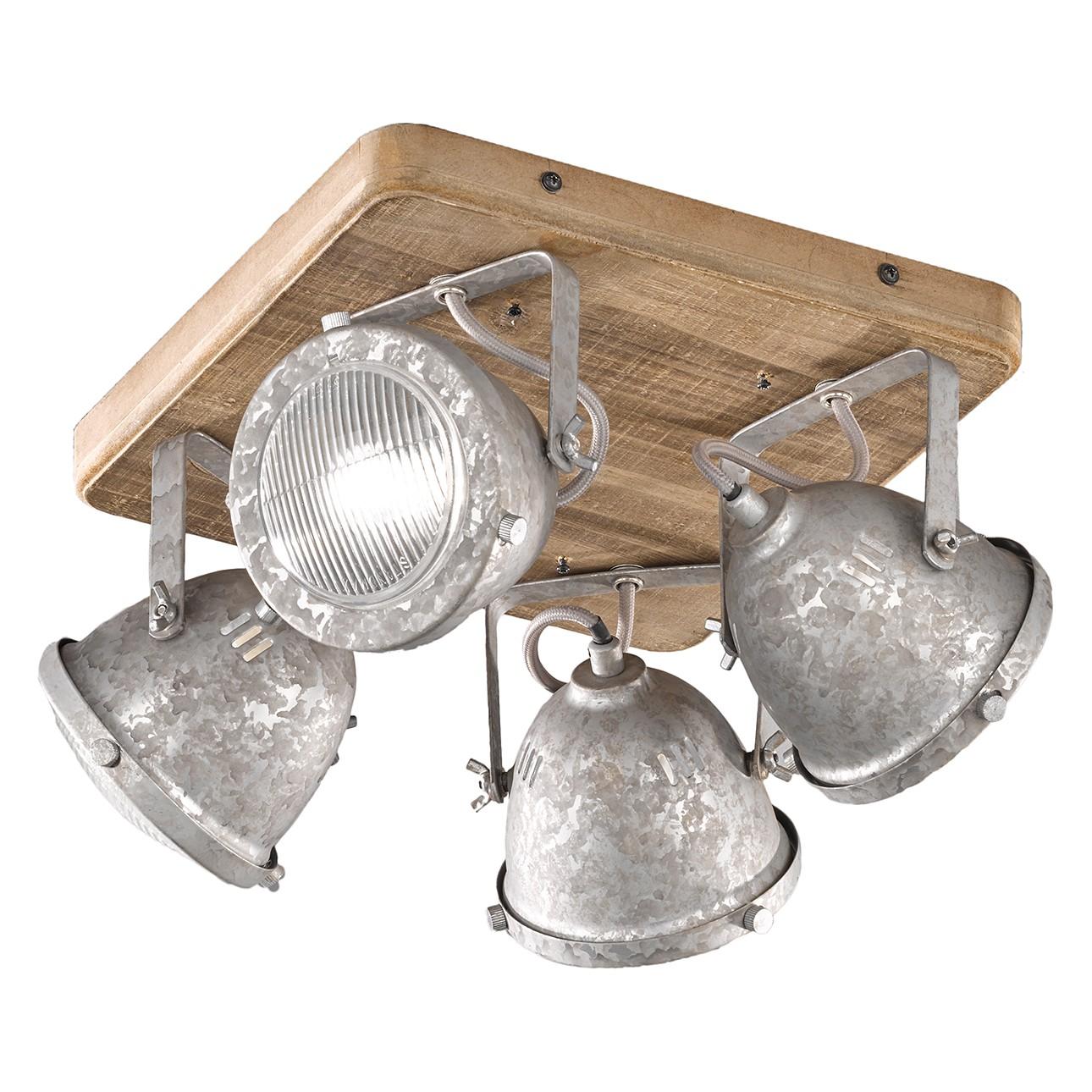 home24 Deckenleuchte Old I | Lampen > Deckenleuchten > Deckenlampen | Silber | Holz - Glas - Metall | Fischer und Honsel
