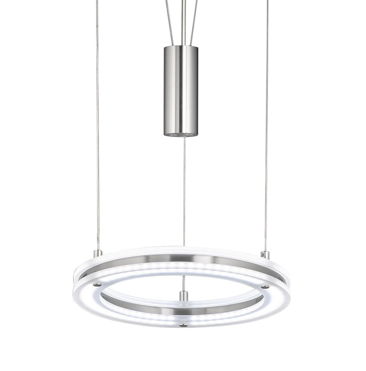 home24 LED-Pendelleuchte Kreis