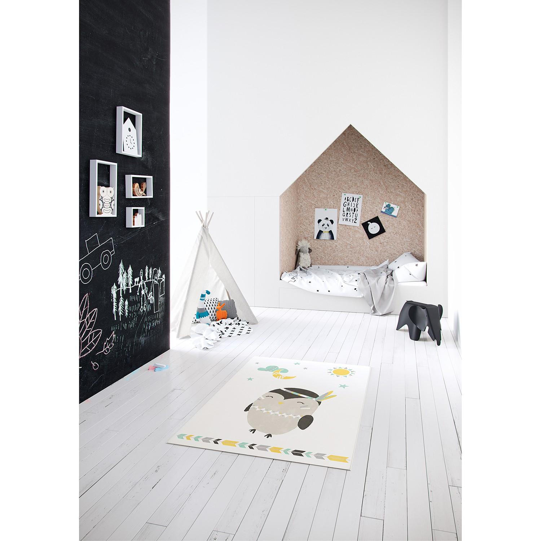 Top Square Kinderteppich Canvas III Beige Tier Design Kunstfaser 120x0.8x170 cm (BxHxT) Rechteckig