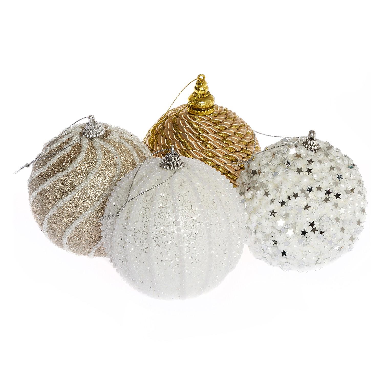 Baumkugeln Abenra (4er-Set) - Schaumstoff - Mehrfarbig