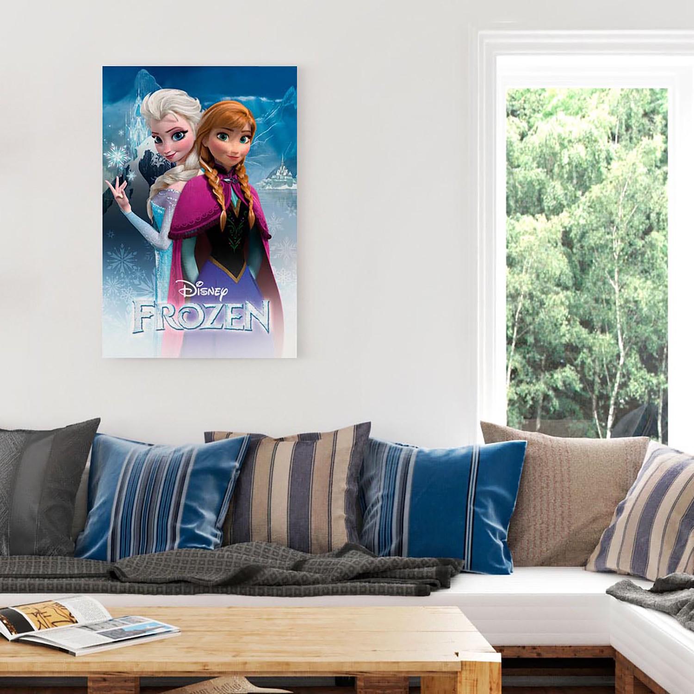 Disney Frozen Anna und Elsa beim Eislaufen Fototapete Wandbild Fotoposter