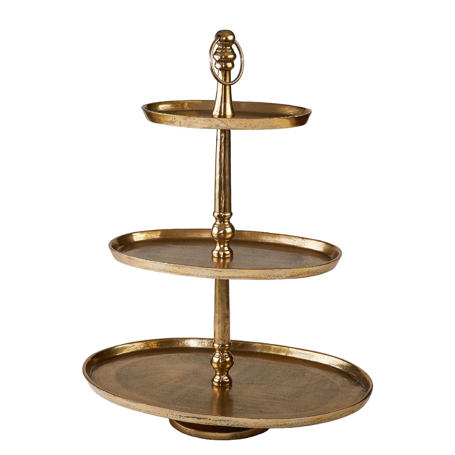 home24 Etagere Khalifa II | Küche und Esszimmer > Aufbewahrung > Etageren | Gold | Metall | Wittkemper Living