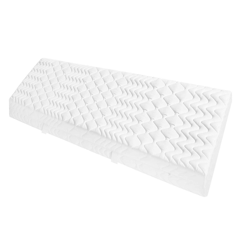 home24 Taschenfederkernmatratze Kiydoo Comfort 90x200 cm H2 7-Zonen bis zu 120 kg Punktelastisch Weiß