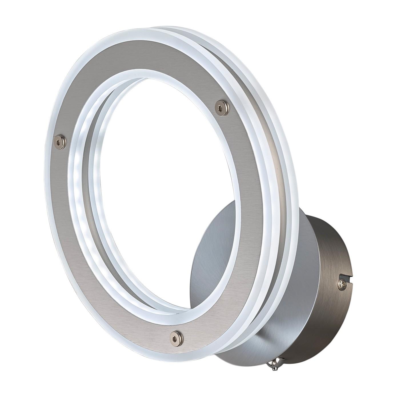 home24 LED-Wandleuchte Kreis