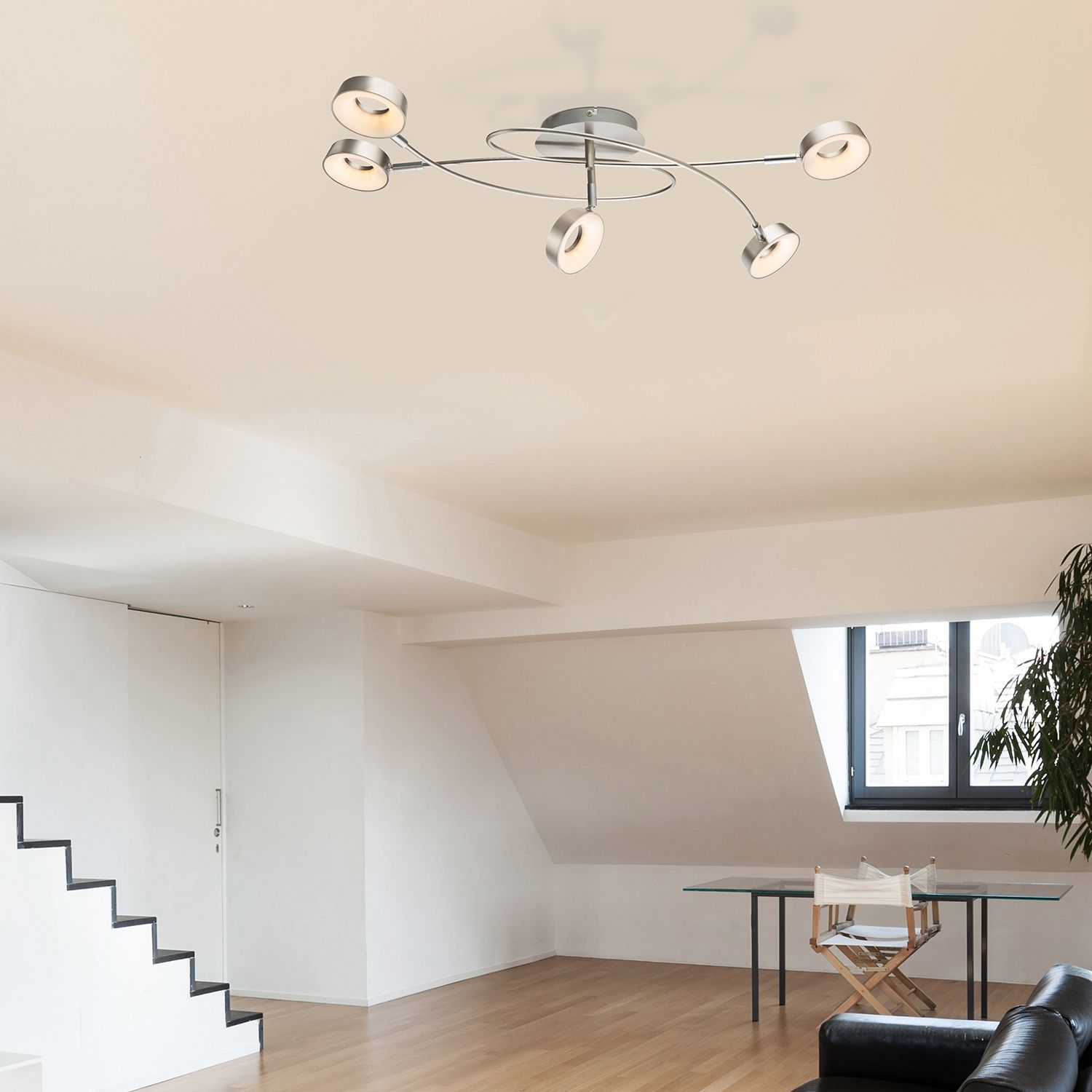 home24 LED-Deckenleuchte Abril I