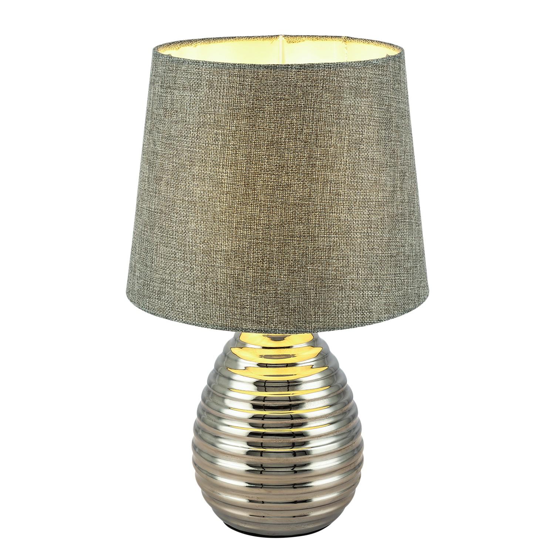 home24 Tischleuchte Tracey I   Lampen > Tischleuchten > Beistelltischlampen   Grau   Metall - Textil   Globo Lighting