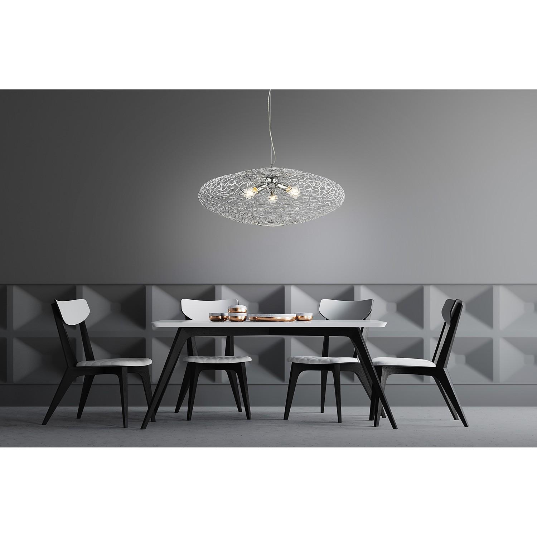 home24 Globo Lighting Pendelleuchte Arya III Aluminium Silber Modern Ø 80 cm 3-flammig E27