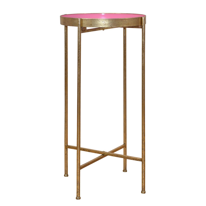 home24 Beistelltisch Mansie II   Wohnzimmer > Tische   Gold   Metall   Red Living
