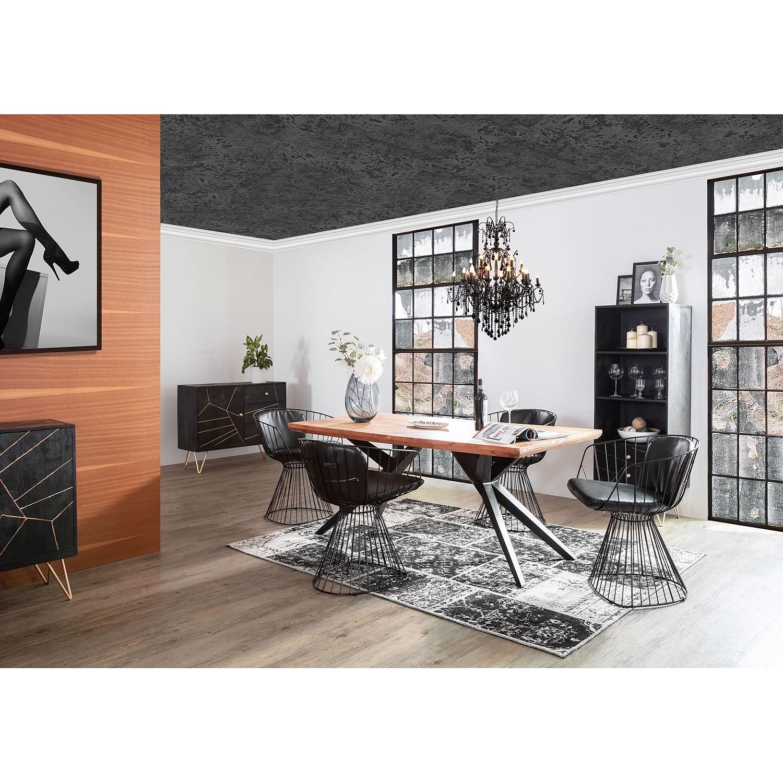 home24 Armlehnenstuhl Risdon | Küche und Esszimmer > Stühle und Hocker > Armlehnstühle | Schwarz | ars manufacti