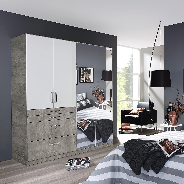 Schlafzimmermöbel - Drehtuerenschrank Homburg II - Rauch Pack´s - Grau
