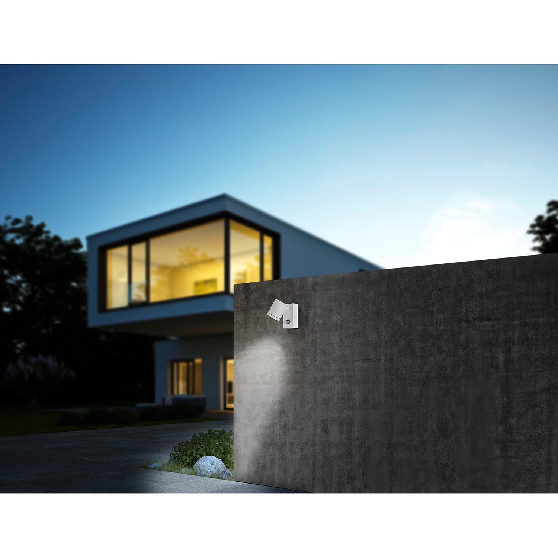 home24 Helestra LED-Wandleuchte Part LED Modern Weiß Aluminium 9x15x16 cm (BxHxT) 1-flammig Dimmerungsschalter Bewegungssensor