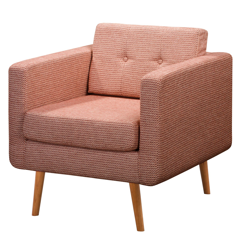 home24 Mørteens Sessel Croom II Altrosa Webstoff 77x86x84 cm (BxHxT)