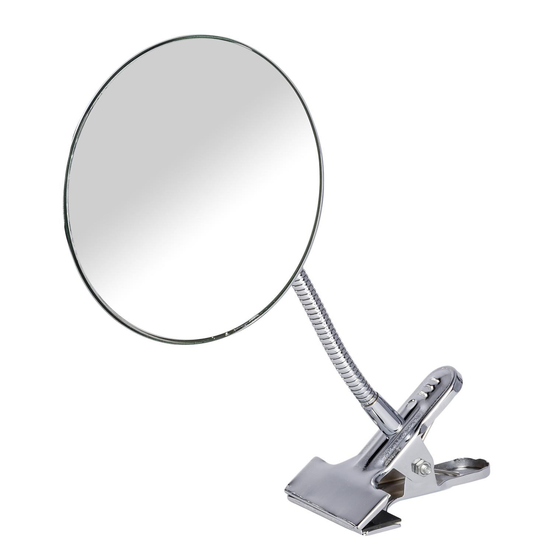 home24 Kosmetikspiegel Clip | Bad > Bad-Accessoires > Kosmetikspiegel | Silber | Metall - Glas | WENKO