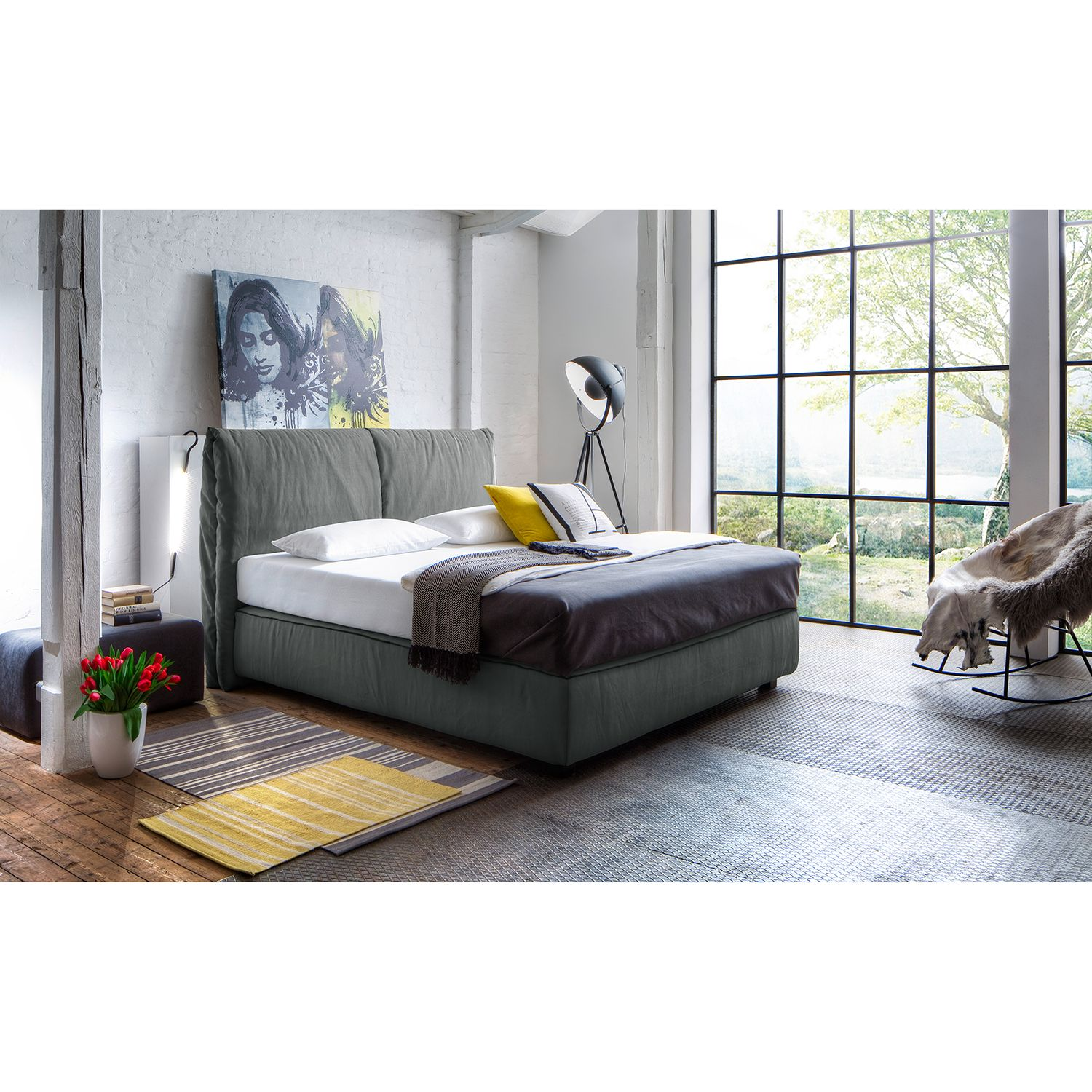 Lit boxspring Seaspray