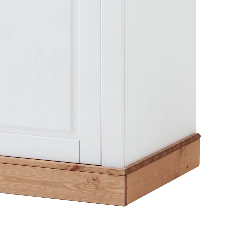 Kleiderschrank BERGEN - Weiß / Laugenfarbig