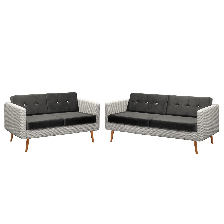 home24 Polstergarnitur Croom III (3-2) | Wohnzimmer > Sofas & Couches > Garnituren