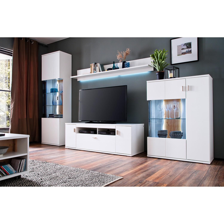 home24 Strandvitrine Penkun | Wohnzimmer > Vitrinen > Standvitrinen | Weiss | loftscape