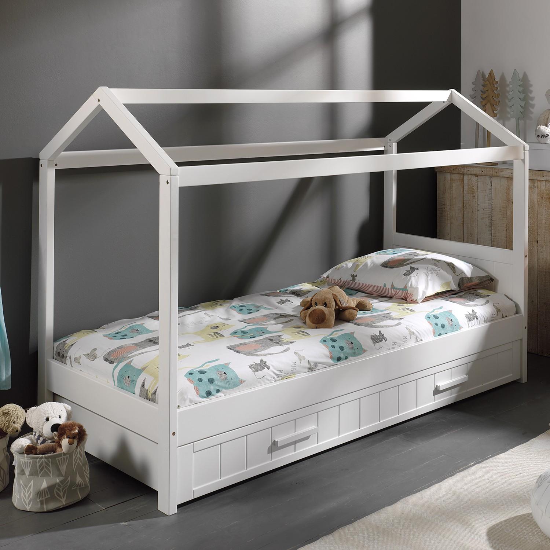 home24 Kinderbett-Set Erik (2-teilig) | Kinderzimmer > Textilien für Kinder > Kinderbettwäsche | Weiss | Holzwerkstoff | Vipack