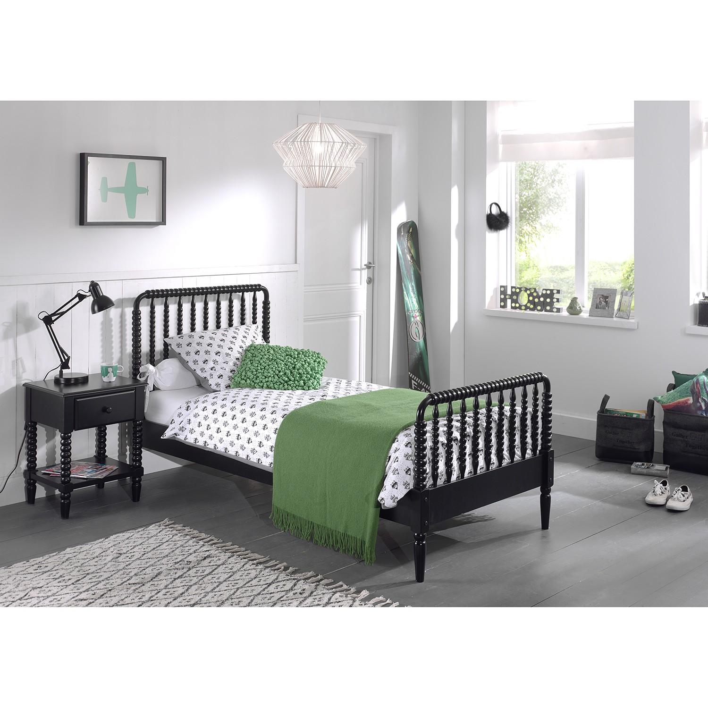 home24 Kinderbett-Set Alana (2-teilig) | Kinderzimmer > Textilien für Kinder > Kinderbettwäsche | Schwarz | Vipack
