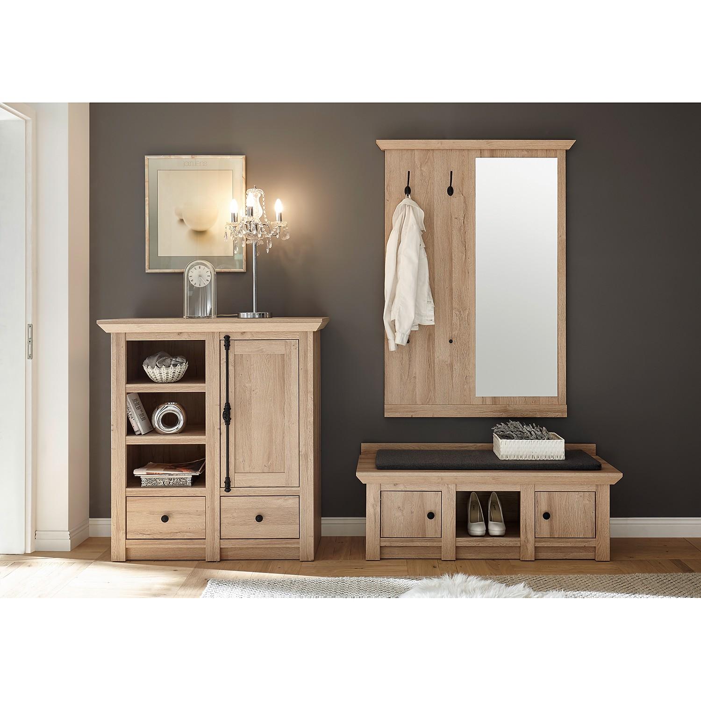 home24 Garderobenset Ocosta I (3-teilig) | Flur & Diele > Garderoben > Garderoben-Sets | Braun | Holzwerkstoff | Ridgevalley