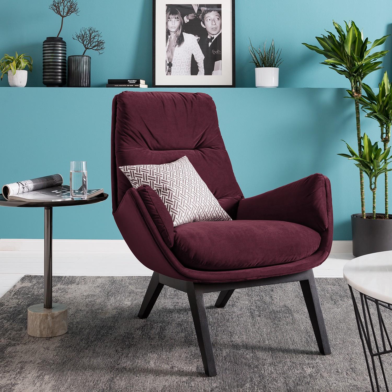home24 Studio Copenhagen Sessel Garbo II Lila Samt 83x94x97 cm (BxHxT)
