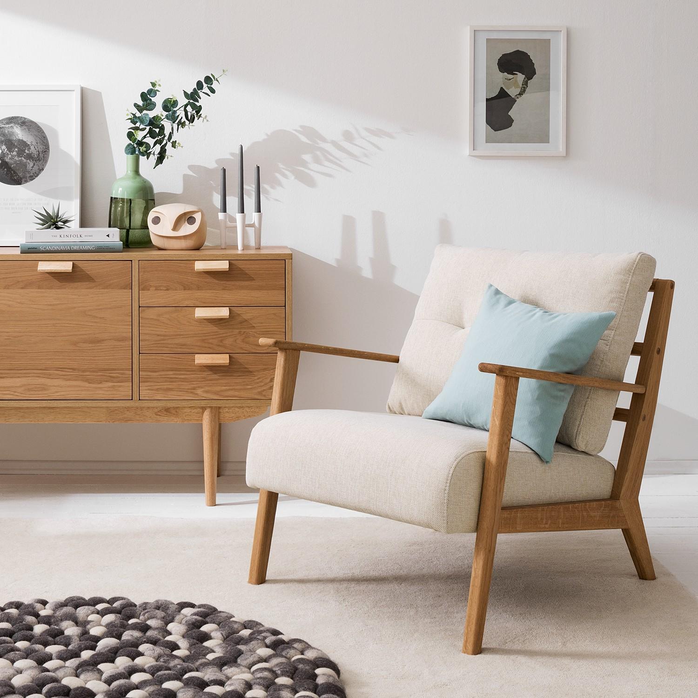 home24 Studio Copenhagen Sessel Timon I Beige Webstoff 83x80x76 cm (BxHxT)