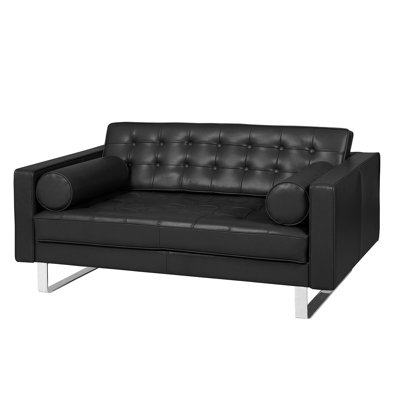 Fredriks Sofa Chelsea IV 2-Sitzer Schwarz Echtleder 146x68x85 cm