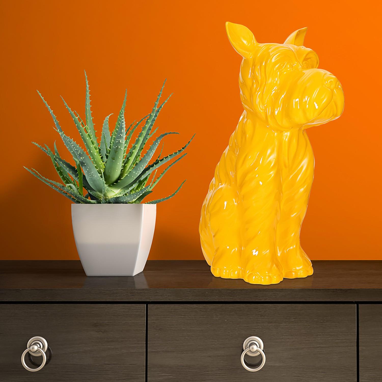 home24 Dekofigur Terrier I   Dekoration > Figuren und Skulpturen   Gelb   Kayoom