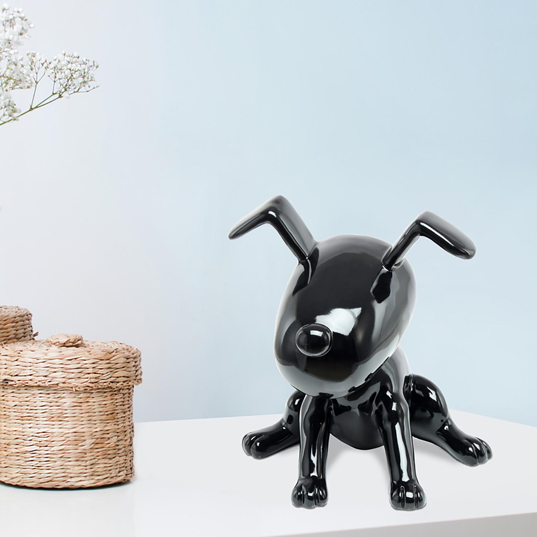 home24 Dekofigur Beagle II | Dekoration > Figuren und Skulpturen > Figuren | Schwarz | Kayoom