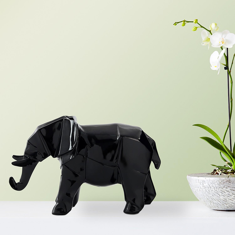 home24 Dekofigur Elephant   Dekoration > Figuren und Skulpturen   Schwarz   Kayoom