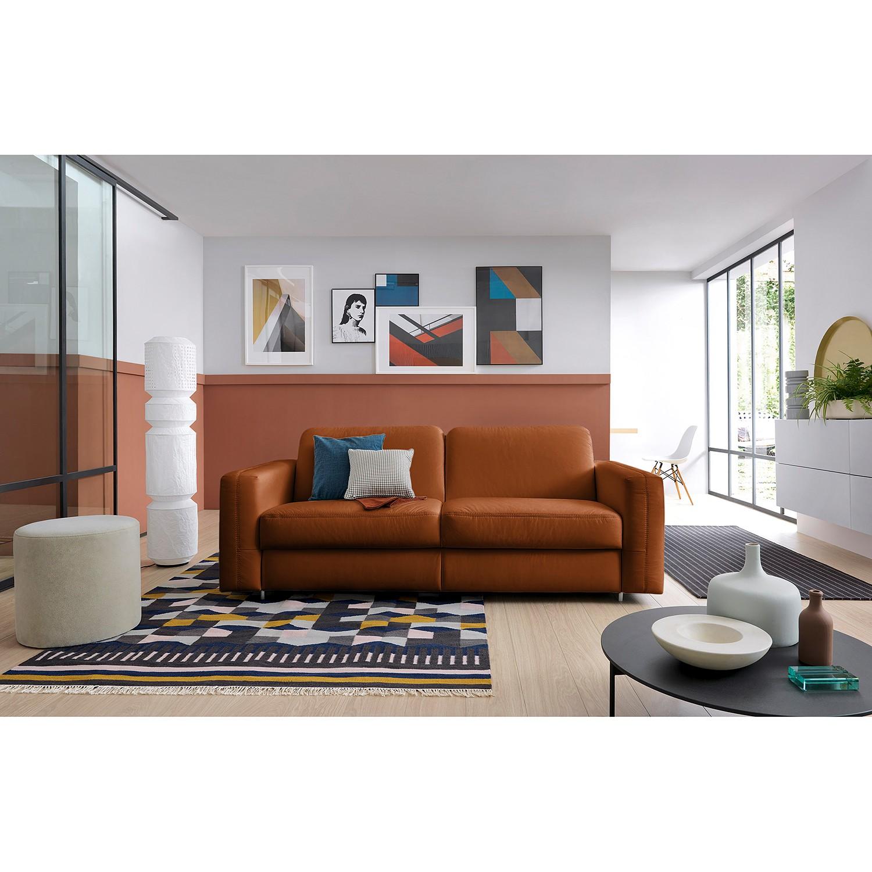 home24 loftscape Schlafsofa Blayney Cognac Echtleder 221x86x101 cm mit Schlaffunktion