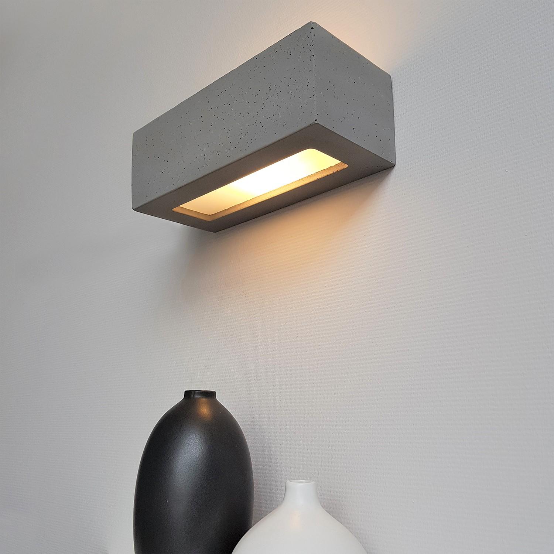 home24 LED-Wandleuchte Block II