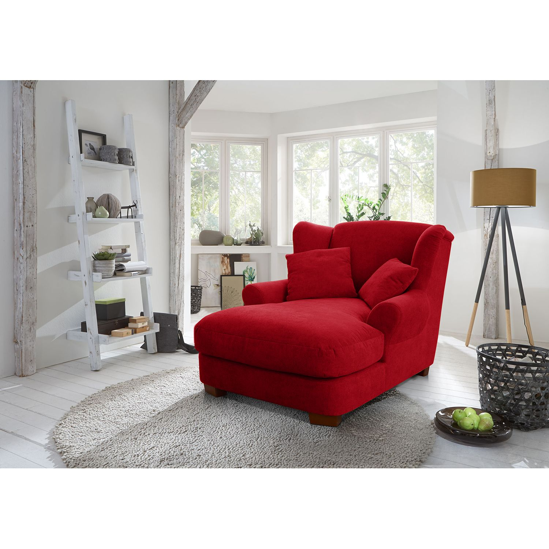home24 Ridgevalley XXL Sessel Liwan I Rot Strukturstoff 120x99x145 cm (BxHxT)
