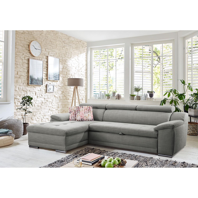 home24 loftscape Ecksofa Sulina I Grau Webstoff 270x93x165 cm