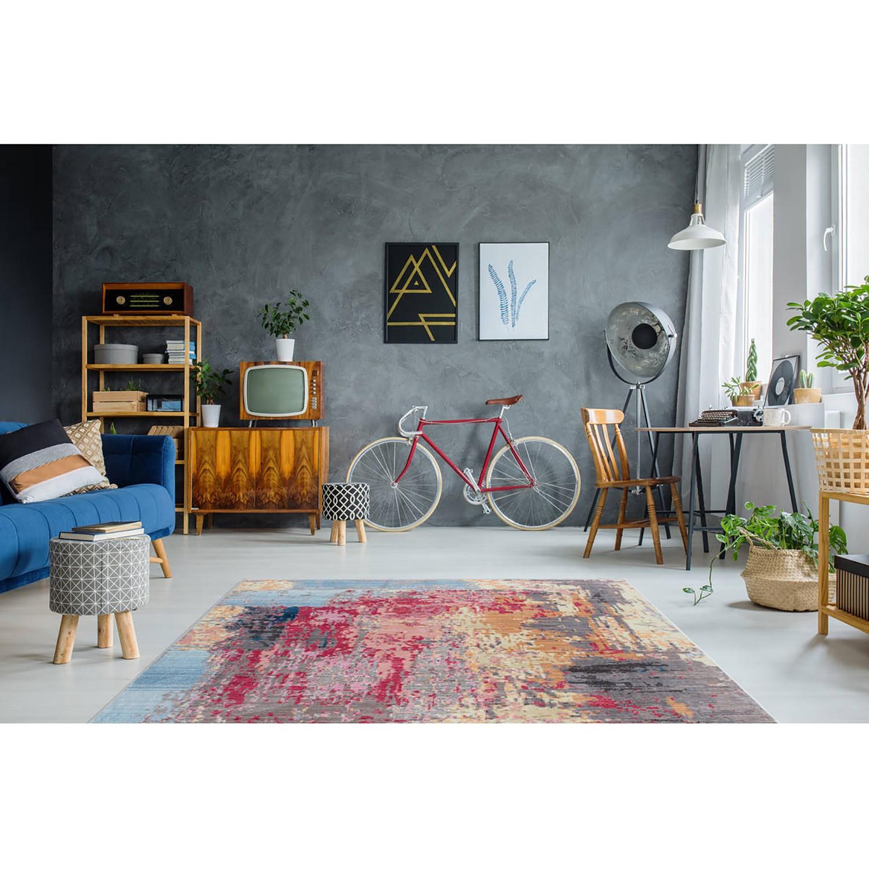 Arte Espina Kurzflorteppich Antigua I Mehrfarbig Rechteckig 80x150 cm (BxT) Abstraktes Design Kunstfaser