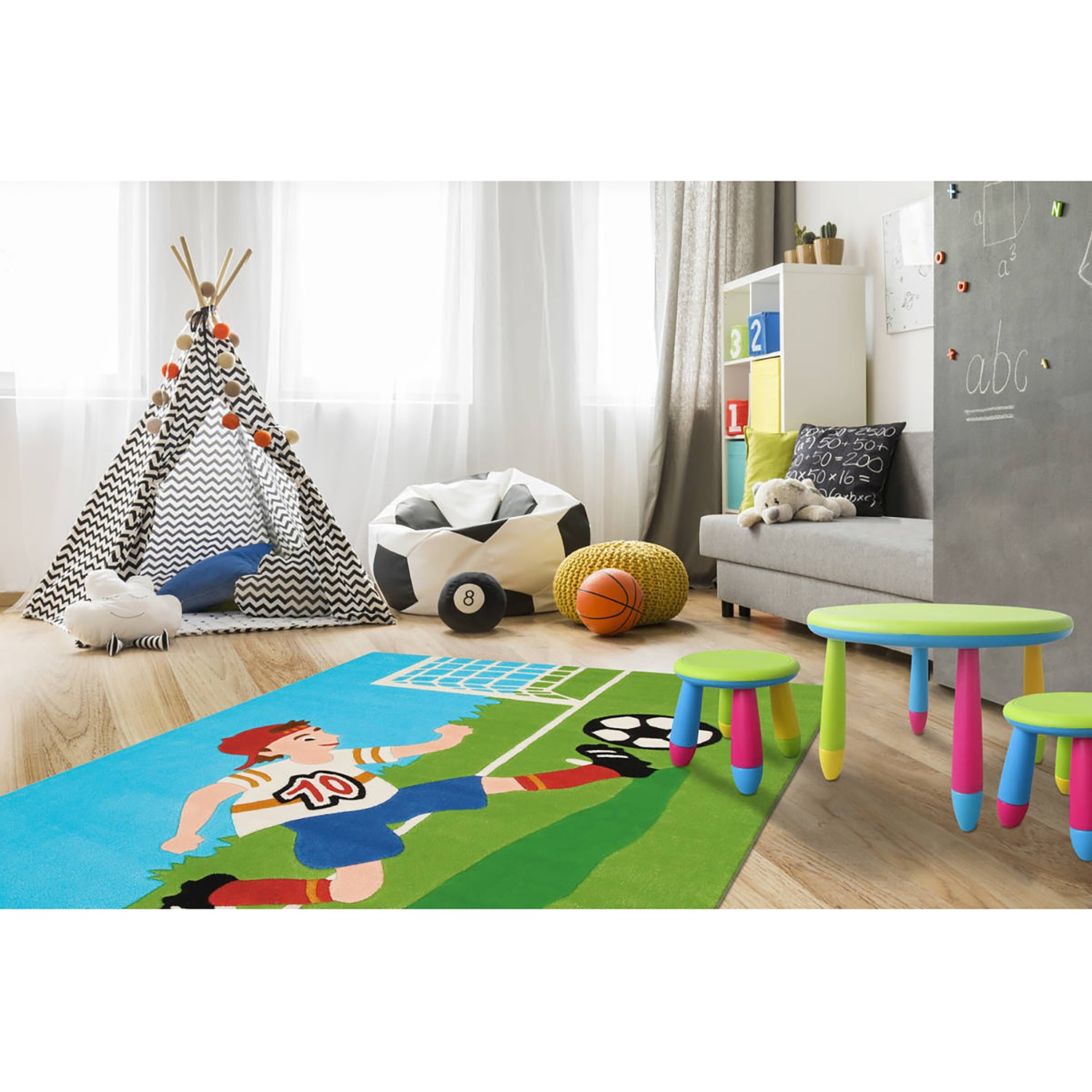 Kinderteppich Joy Soccer Tophit Offer 3001