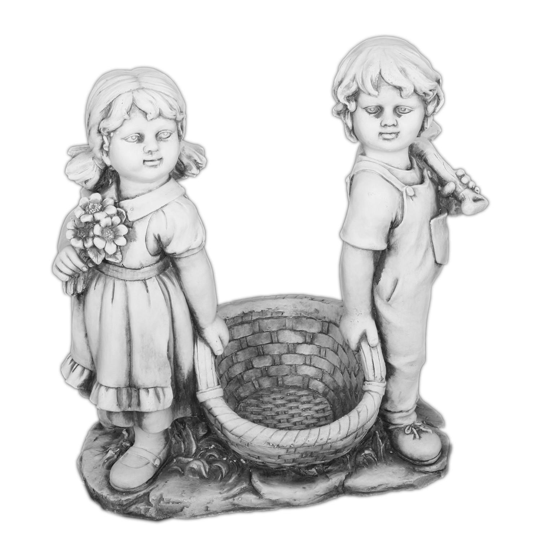 Gartenfigur Maedchen und Junge, twentyfour