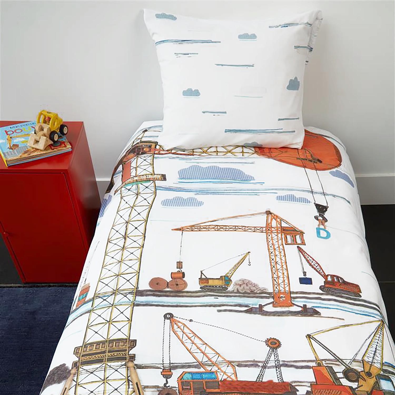 home24 Kinderbettwaesche Building Site   Kinderzimmer > Textilien für Kinder > Kinderbettwäsche   Beddinghouse