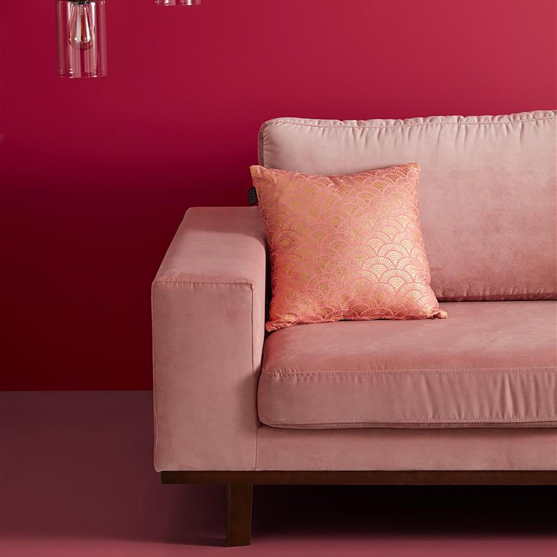 KAAT Amsterdam Dekokissen Wavy Gold/Pink 40x40 cm (BxH) Baumwollstoff, KAAT Amsterdam
