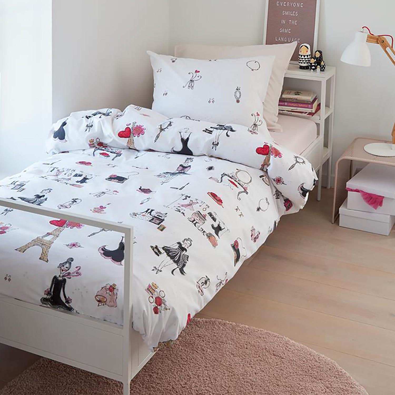 home24 Kinderbettwaesche Paris Girl   Kinderzimmer > Textilien für Kinder > Kinderbettwäsche   Beddinghouse