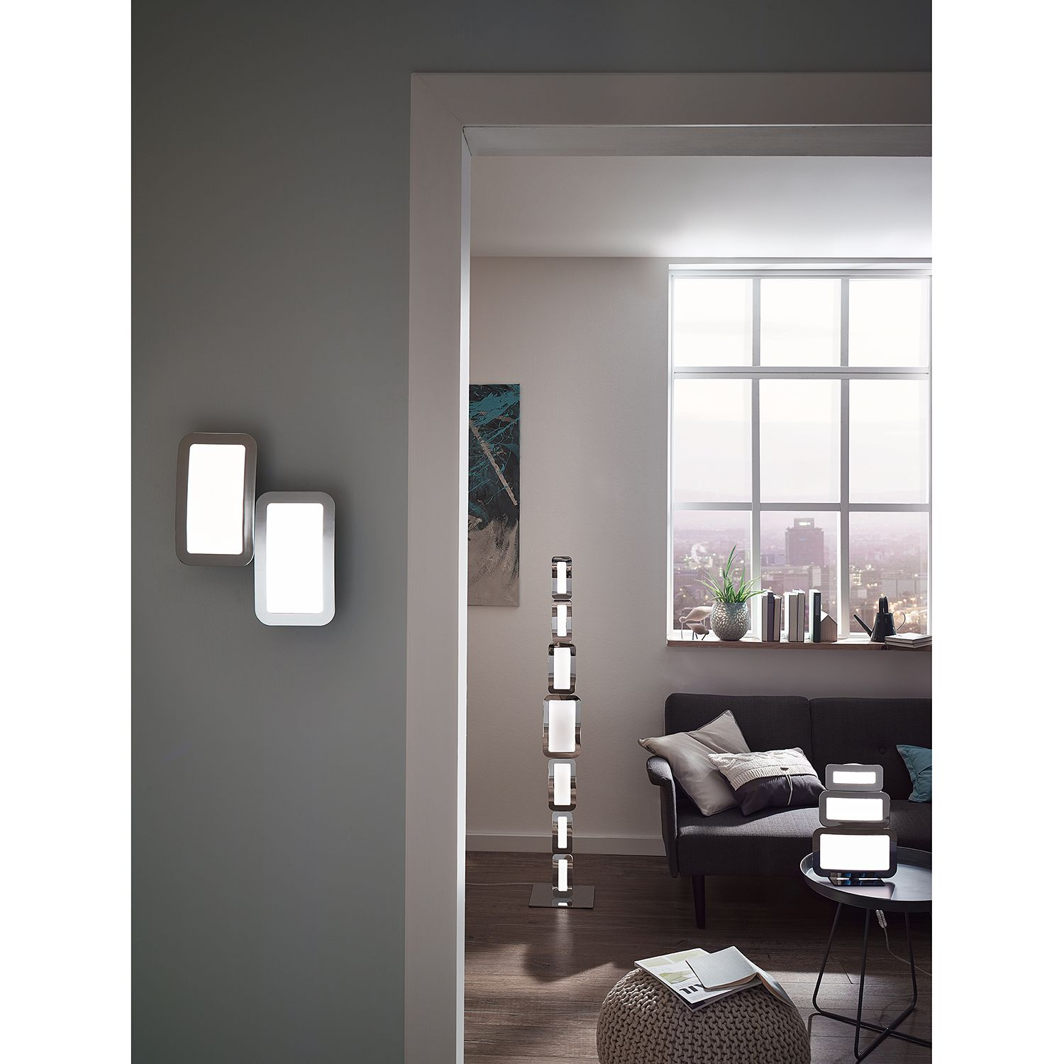 home24 LED-Wandleuchte Saga